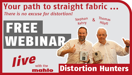 """Entering the """"Path to Straight Fabric"""" Mahlo GmbH + Co. KG hosts Webinar for Textile Industry"""