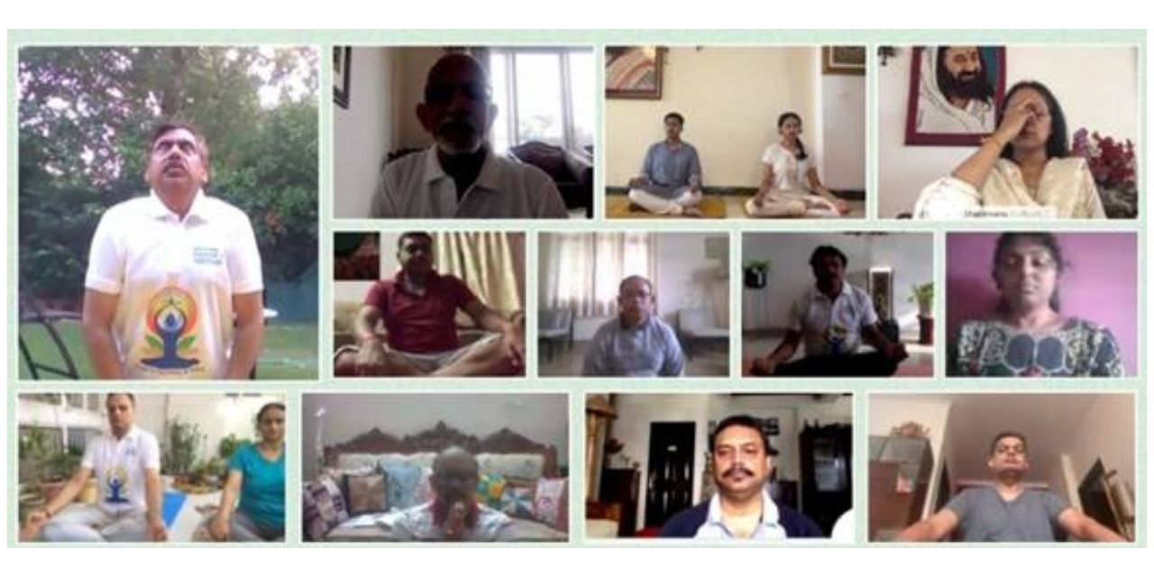 Ministry of Textiles celebrates 7th International Day of Yoga