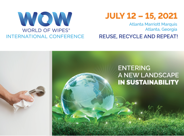 World of Wipes® International Conference to Deliver Latest Insights on Sustainability, COVID-19 Consumer Wipes Buying Trends and More