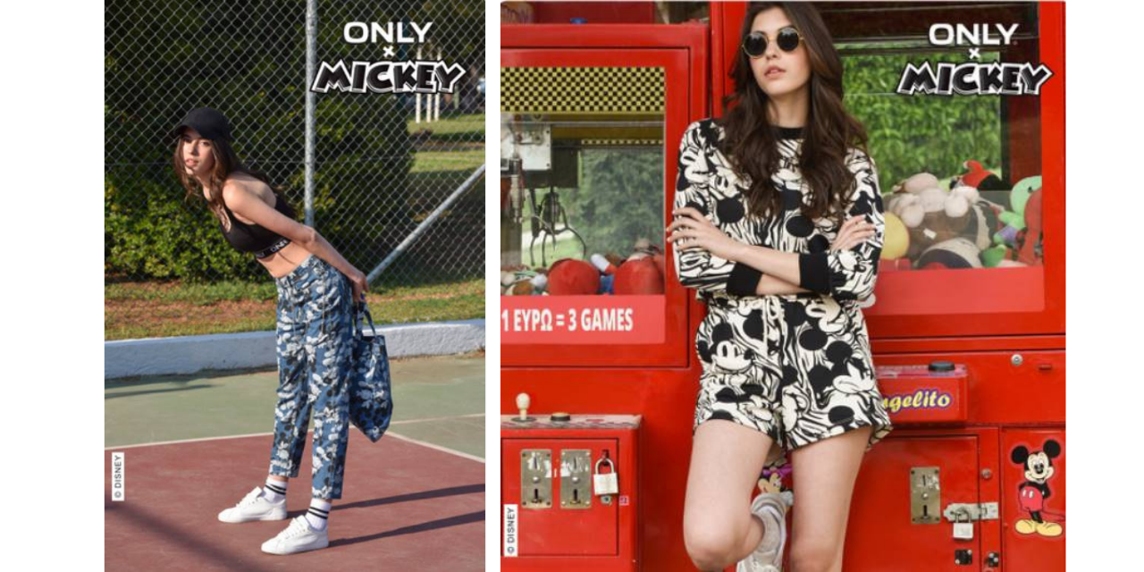 ONLY BRINGS A FUN CAPSULE COLLECTION INSPIRED BY MICKEY MOUSE TO YOUR CLOSET!