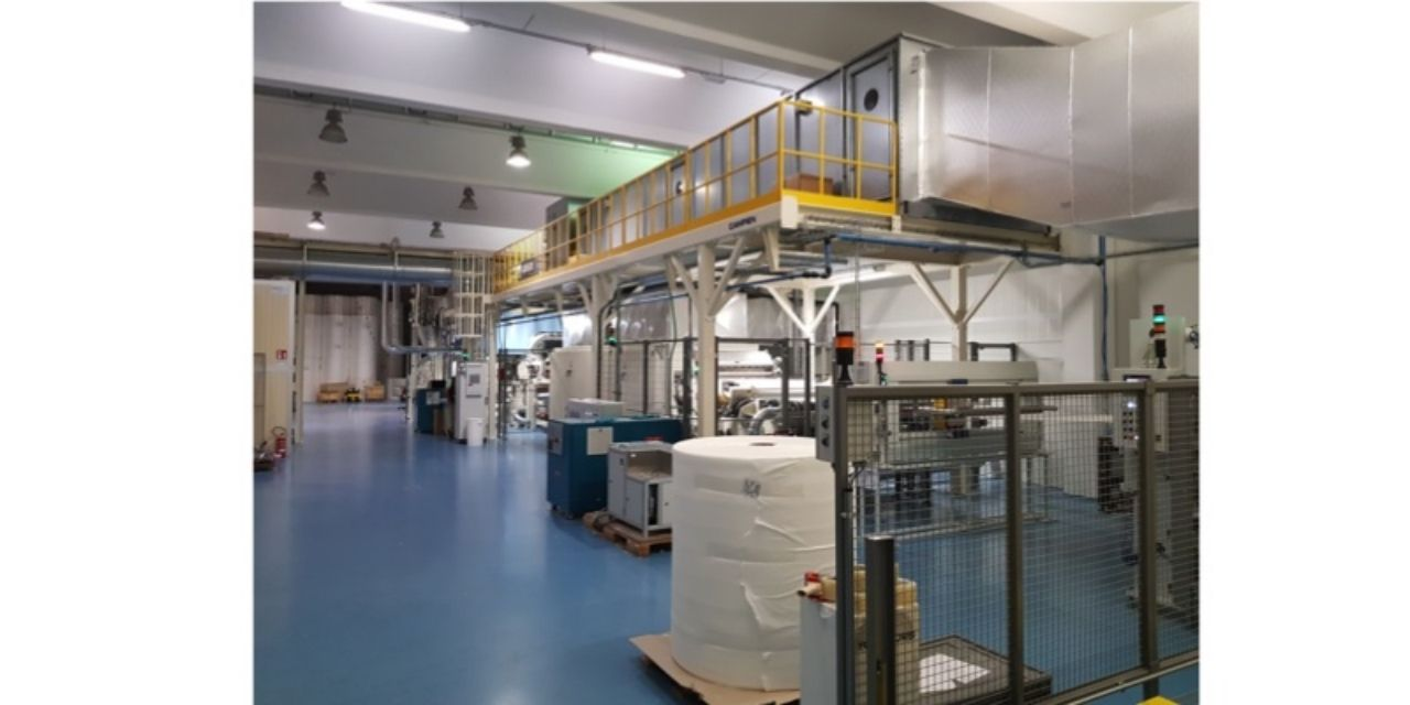 Airlaid Line Installed by Magic Srl in Italy