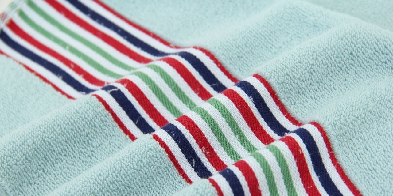 Organic cotton beach towels are now available at Delilah Home