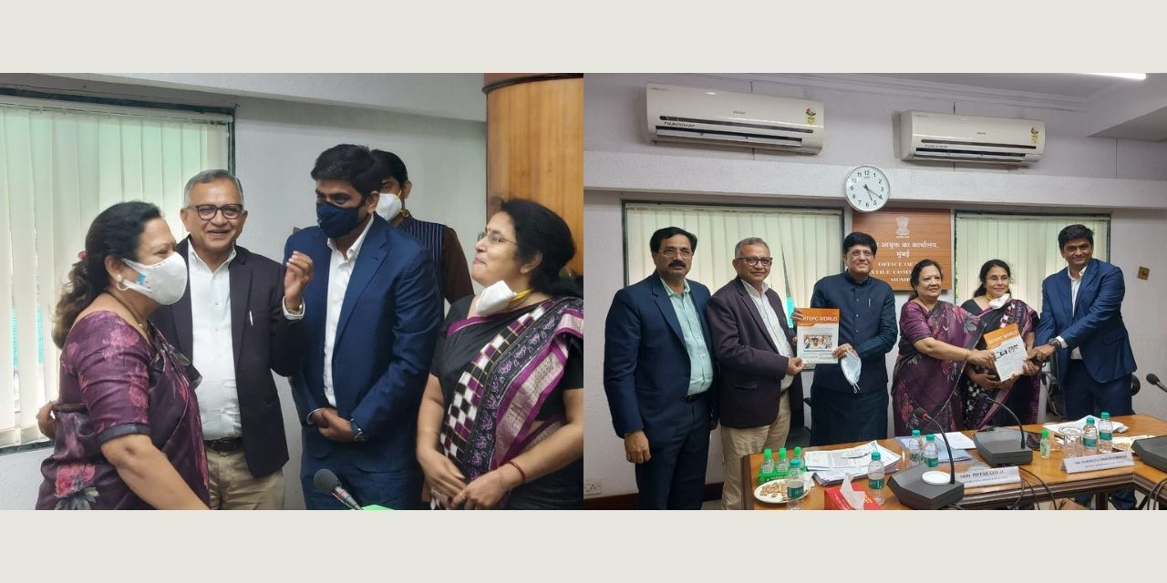 SRTEPC welcomed both the New Ministers of Textiles in Mumbai