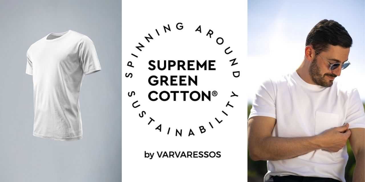 Cutting-edge sustainable yarn SUPREME GREEN COTTON® to raise the bar of T-shirt wear values