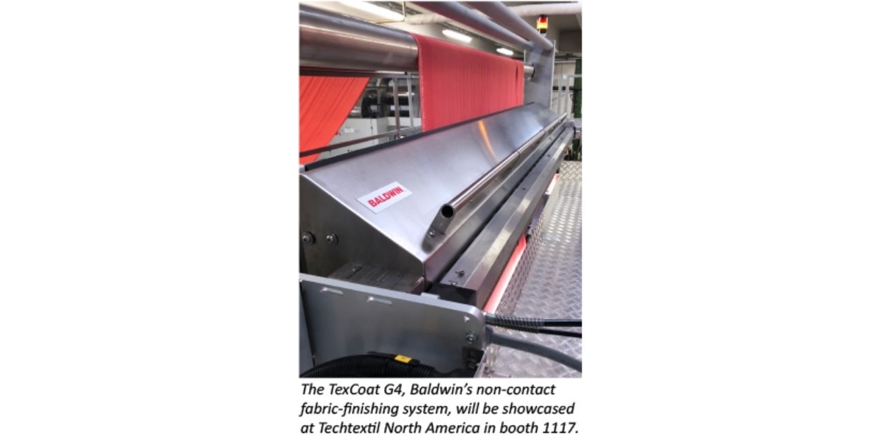 Baldwin to introduce TexCoat G4 to US textile industry at Techtextil North America