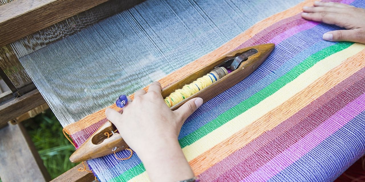 Using traditional Indian handlooms to upcycle textile waste into high fashion