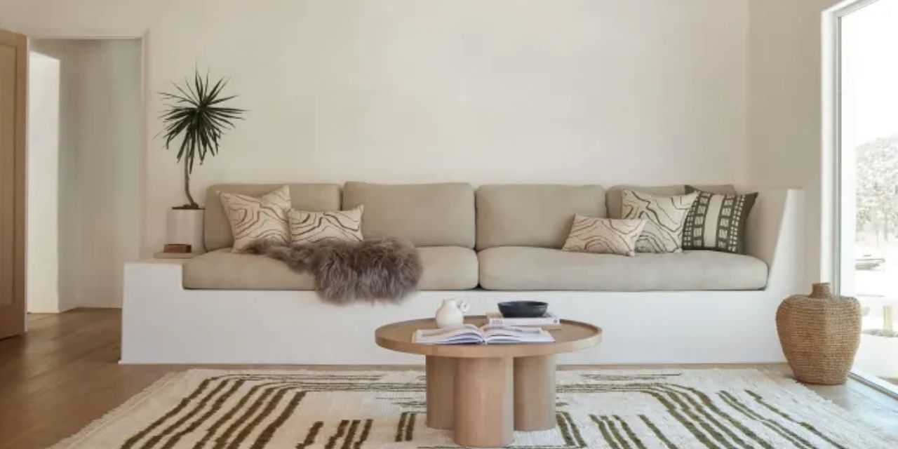 Rugs and pillows inspired by ancient style: Lulu & Georgia X Elan Byrd collection