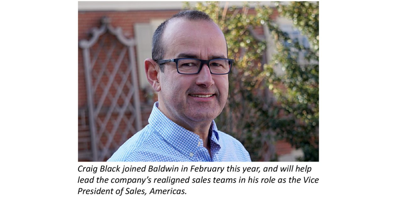 Baldwin realigns sales teams to simplify customers' access to process-improvement and consumables technologies