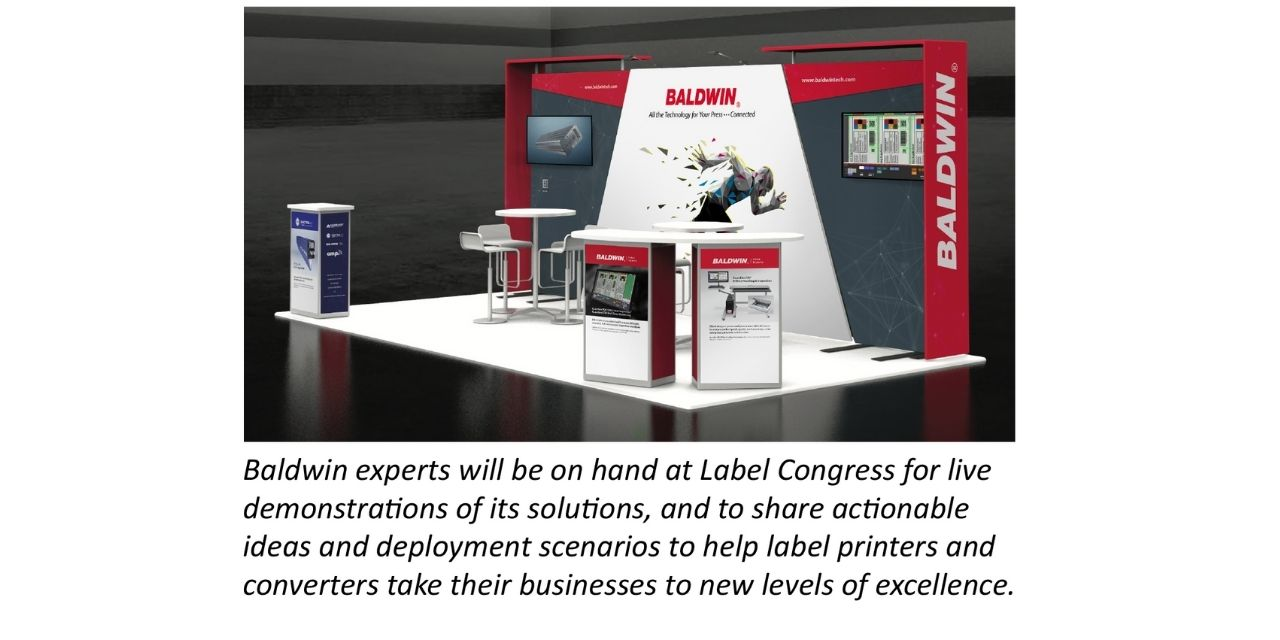 Baldwin to showcase data-connected UV, LED, corona, color and inspection solutions at Label Congress